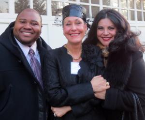 Issachah Savage, Leilane Grimaldi Mehler, and Fabiana Bravo