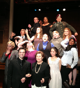 Front row:  Conductor Yevgeny Dokshansky and Dr. Elaine Walter, with  opera workshop students behind them.
