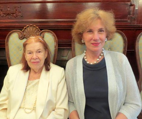 Princess Alexis Obolensky and Bulgarian Ambassador Madame Elena Poptodorova