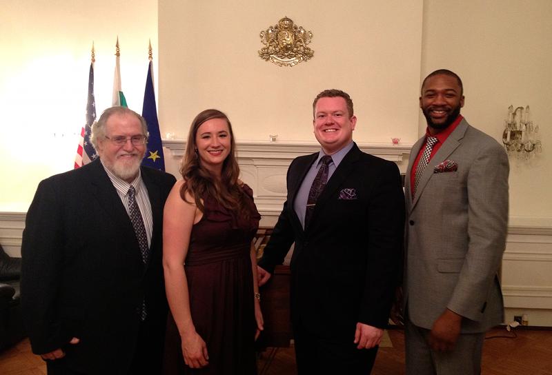Accompanist Dr. Frank Conlon, soprano Merideth Marano, tenor Joshua Baumgardner, and bass-baritone Norman Garrett
