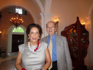 Our hostess Shahin Mafi and Robert Gair