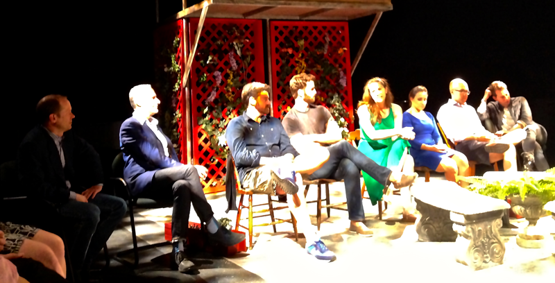 At the end of the performances Q&A session with maestro Robert Wood, librettist Mark Campbell, baritone Keith Phares , bass-baritone Tom Corbeil, mezzo soprano Catherine Martin, soprano Erin Sanzero, tenor Alex Mansoori and director John Paul.