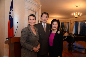 Mrs. Shen, Leilane Grimaldi Mehler, and Ambassador Shen