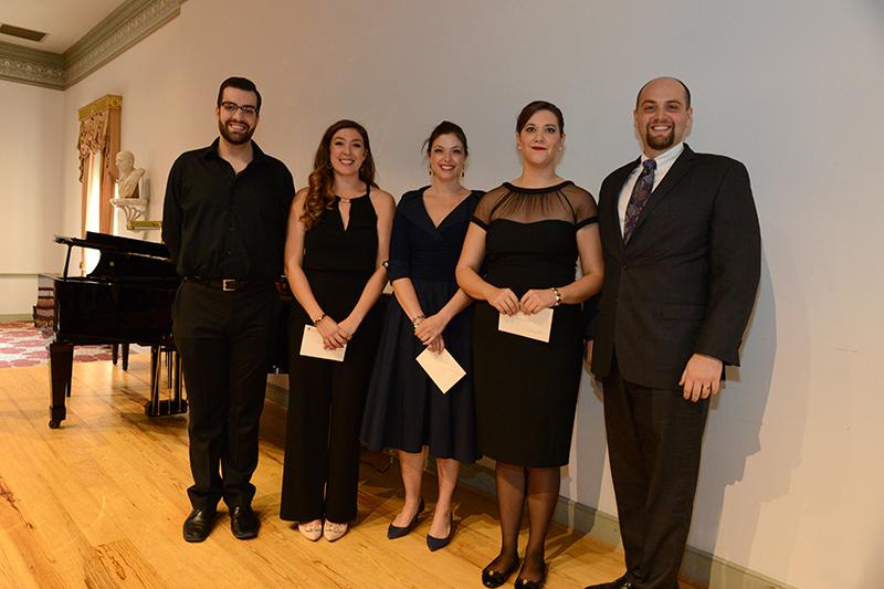Bass Timothy Bruno, mezzo-soprano Natalie Rose Havens, soprano Colleen Davis, mezzo-soprano Olivia Vote, and tenor Brent Turner