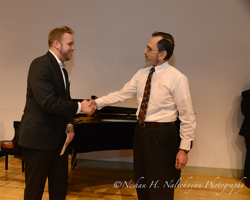 First prizewinner tenor Christopher Magiera and Dr. Robert Misbin